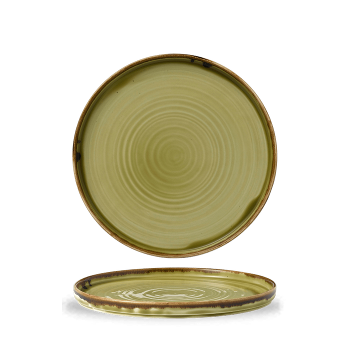 Dudson Harvest Green walled plate 26 cm