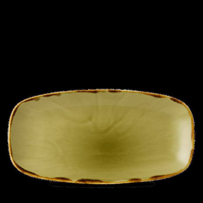 Dudson Harvest Green chefs'oblong plate 29,8 x 15,3 cm