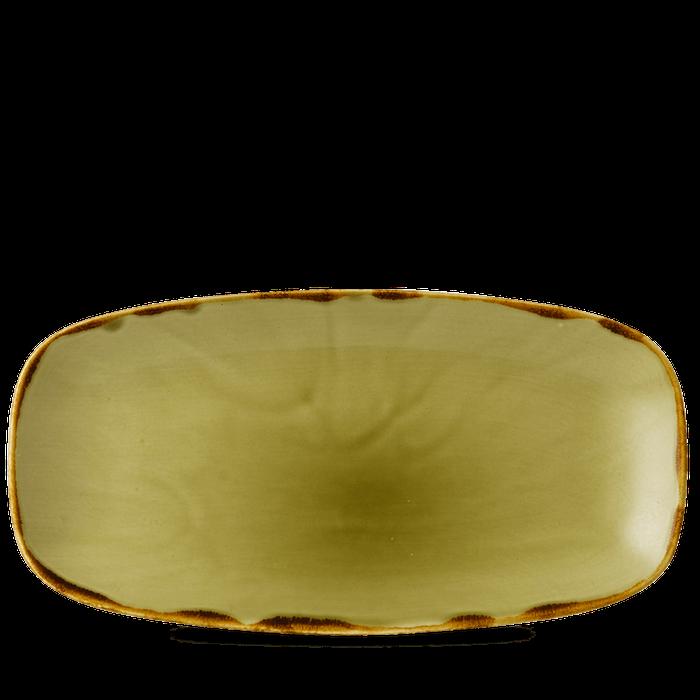 Dudson Harvest Green chefs'oblong plate 35,5 x 18,9 cm