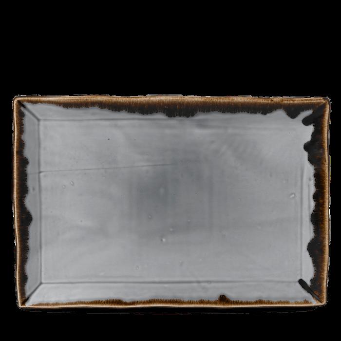 Dudson Harvest Grey rectangular tray 34,5 x 23,3 cm