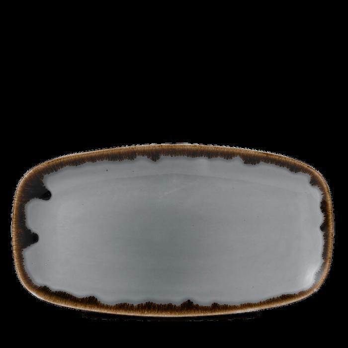 Dudson Harvest Grey chefs' oblong tray 35,5 x 18,9 cm