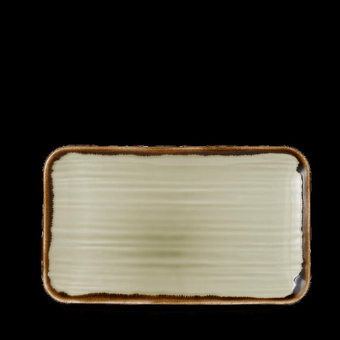Dudson Harvest Linen organic rectangular plate 27 x 16 cm