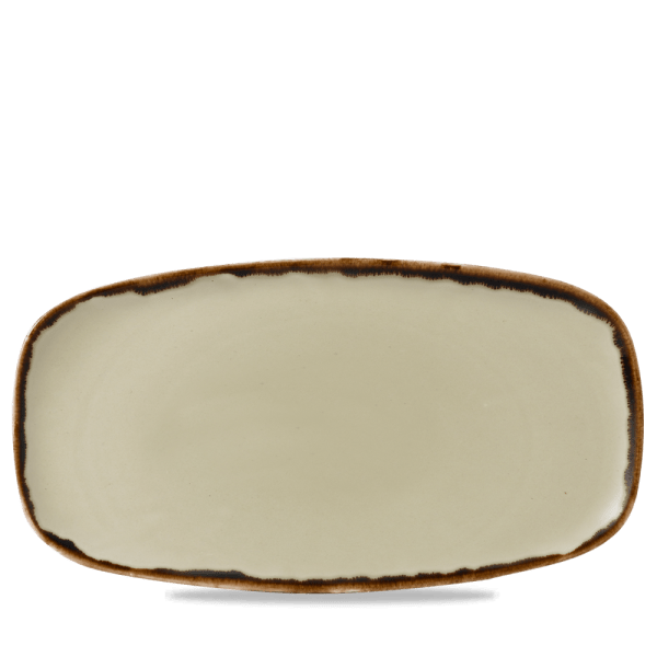 Dudson Harvest Linen chefs' oblong plate 35,5 x 18,9 cm