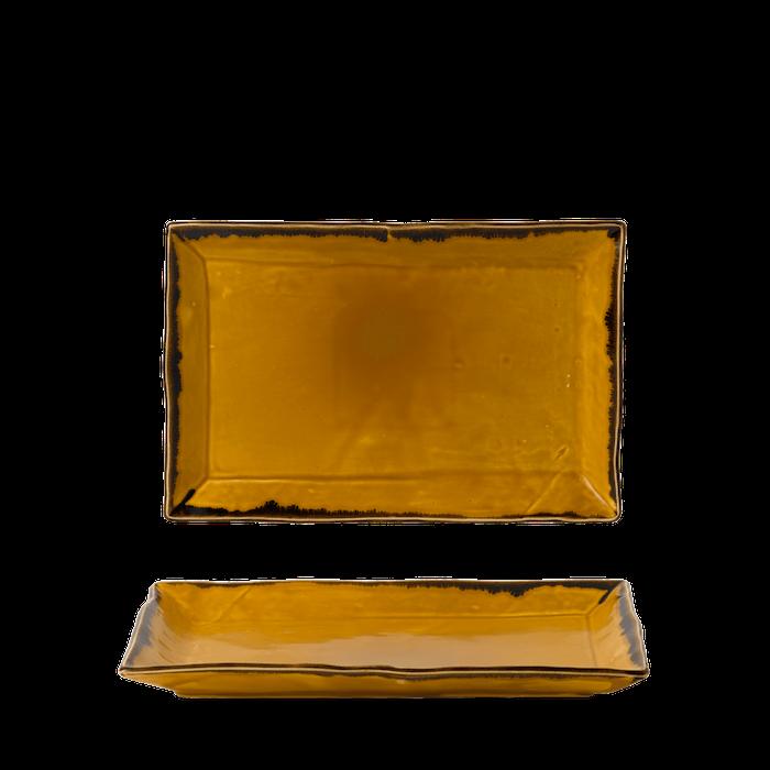 Dudson Harvest Mustard rectangular tray 28,5 x 19 cm