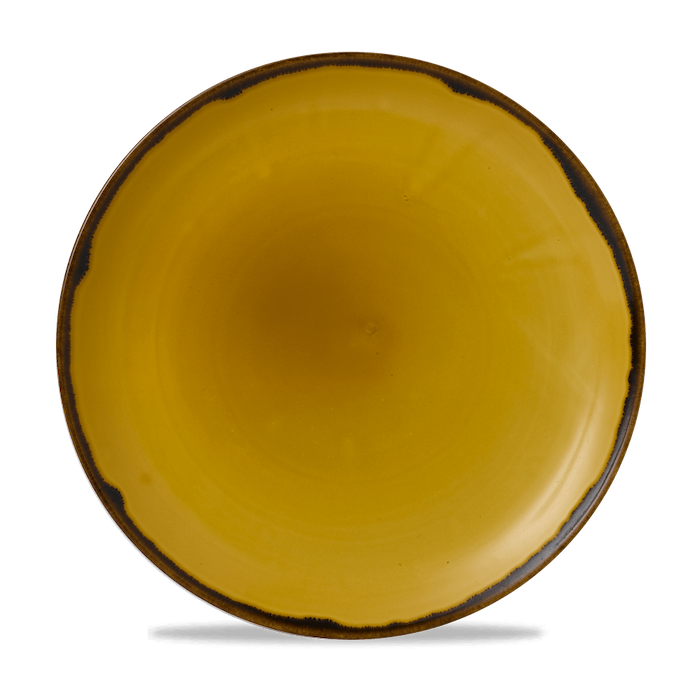 Dudson Harvest Mustard coupe bord 26 cm