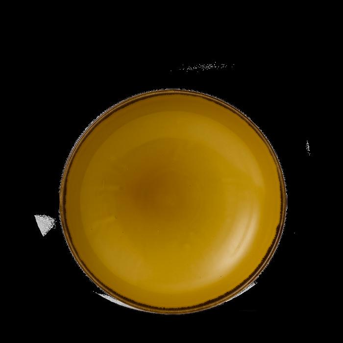 Dudson Harvest Mustard coupe bowl 18,2 cm