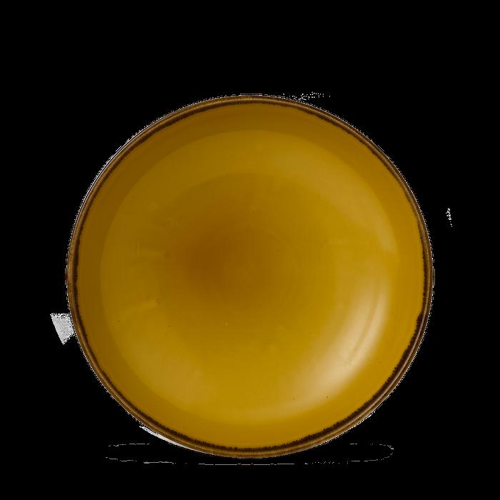 Dudson Harvest Mustard coupe bowl 24,8 cm