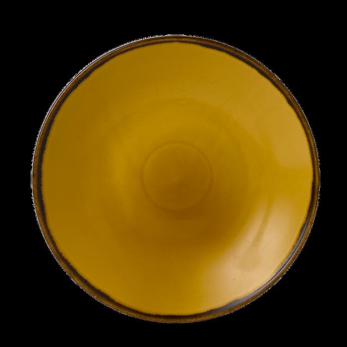 Dudson Harvest Mustard diep coupe bord 25,5 cm