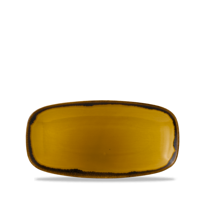 Dudson Harvest Mustard chefs' oblong plate 29,8 x 15,3 cm