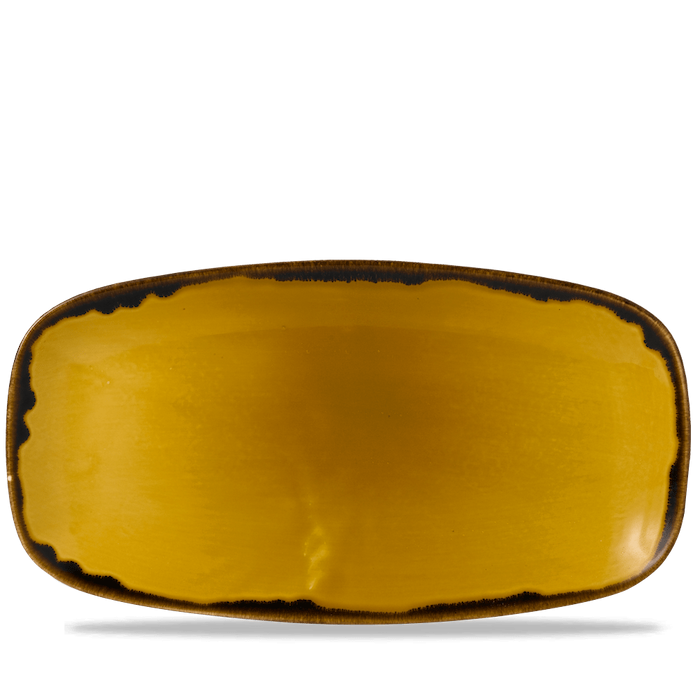 Dudson Harvest Mustard chefs' oblong plate 35,5 x 18,9 cm