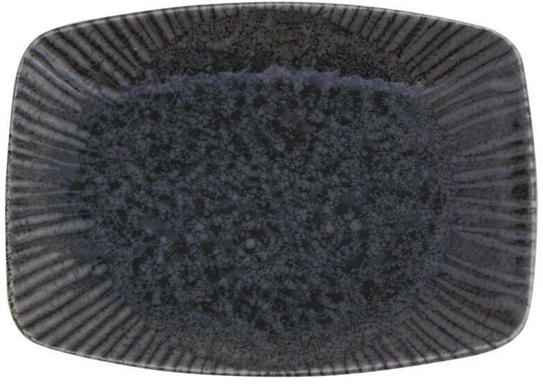 Porland Iris Grey oblong bord 27 x 19,5 cm