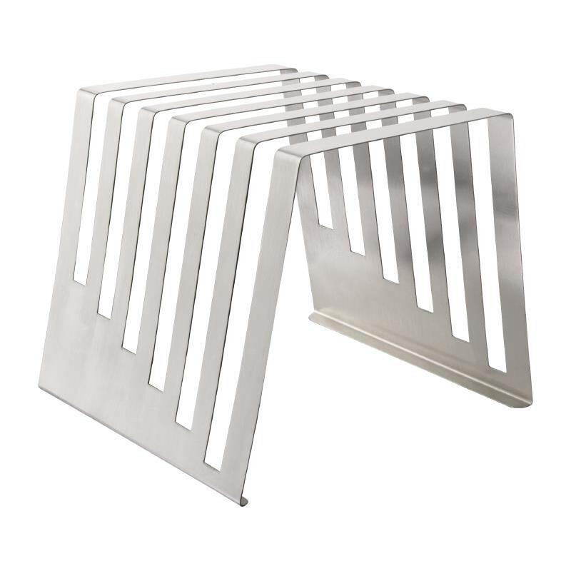 Hygiplas snijplankstandaard RVS voor 6 planken van max. 1,5 cm