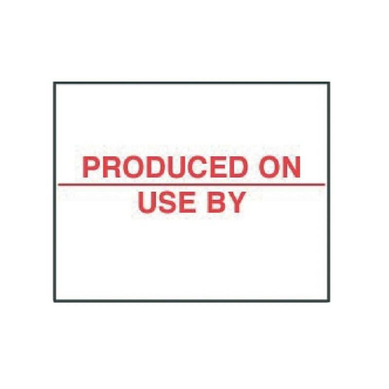 HACCP stickers voor stickerpistool J329 20  x 16 mm DOOS 14000