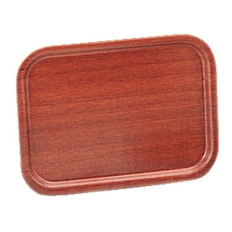 rechthoekig dienblad mahonie fineer 32 x 24 cm