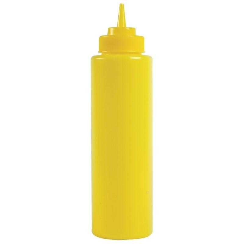 knijpfles 23 cl geel Ø 4,8 cm hoog 18,5 cm