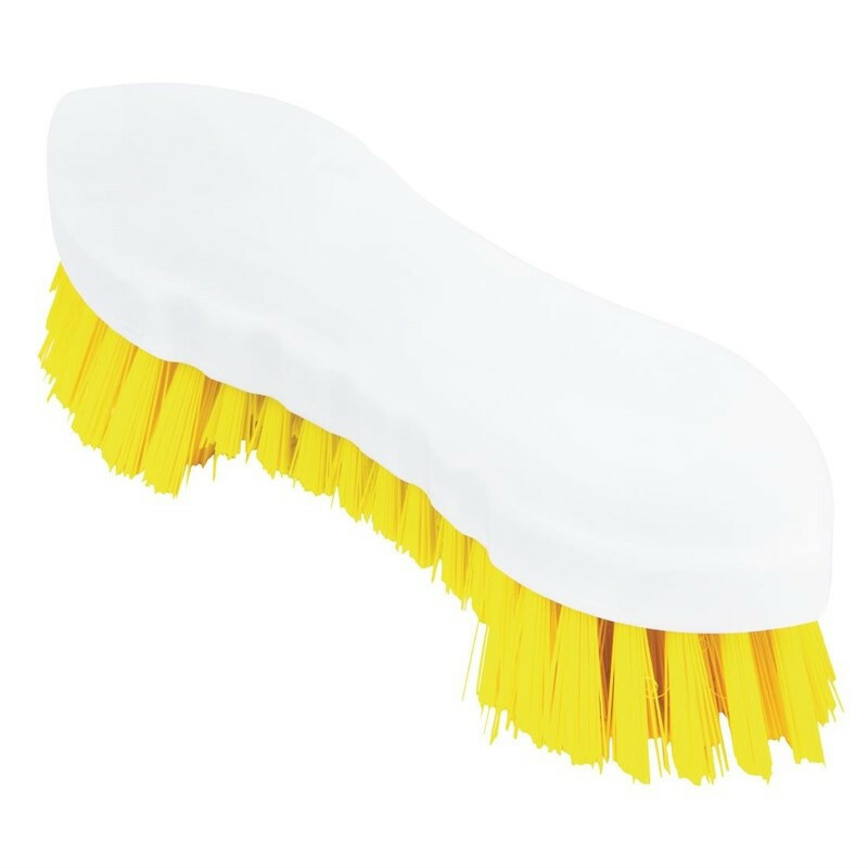 Jantex schrobborstel geel kunststof