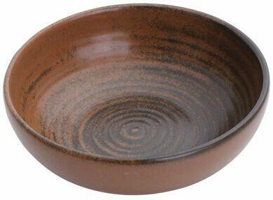 Porland Lykke Brown bowl laag 10 cm 9,5 cl