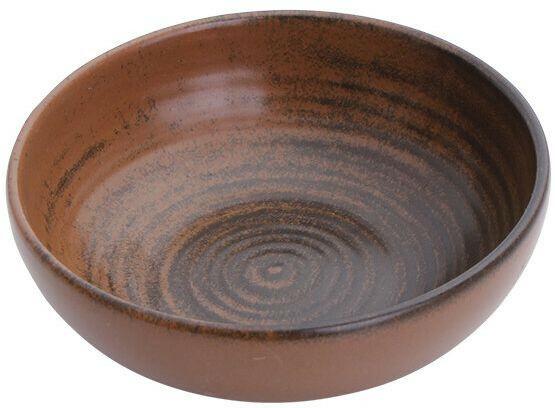 Porland Lykke Brown bowl laag 13 cm
