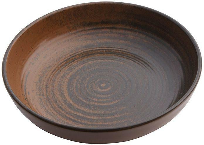 Porland Lykke Brown bowl laag 17 cm 41,5 cl