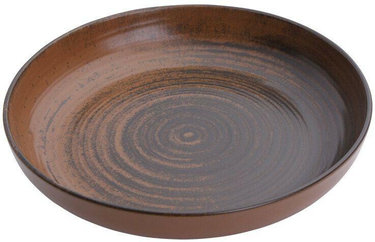 Porland Lykke Brown bowl laag 27 cm