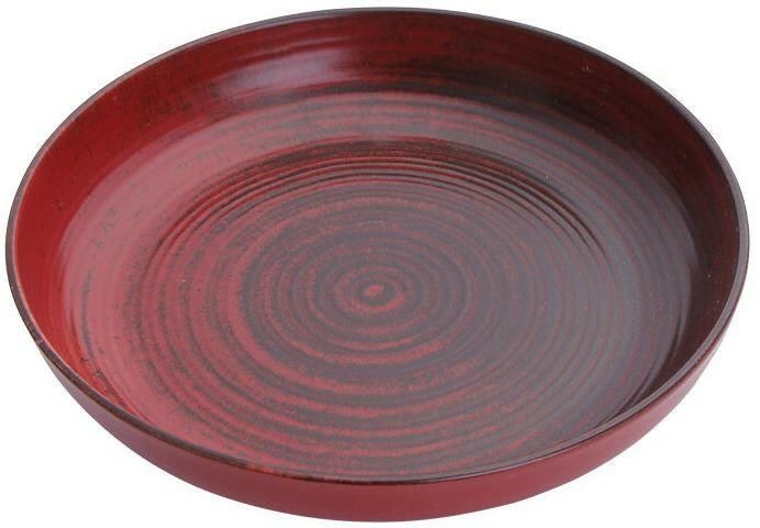 Porland Lykke Red bowl laag 22 cm 83,5 cl