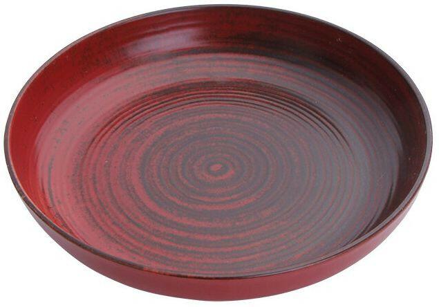 Porland Lykke Red bowl laag 27 cm