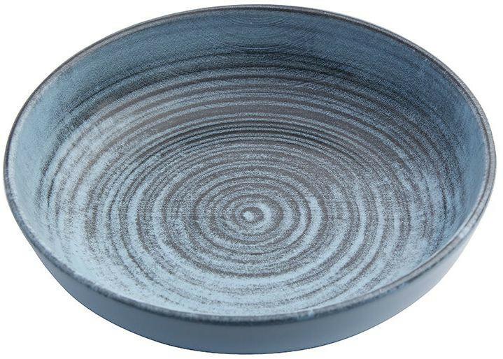 Porland Lykke Turquoise bowl laag 17 cm 41,5 cl