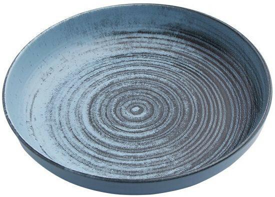 Porland Lykke Turquoise bowl laag 27 cm