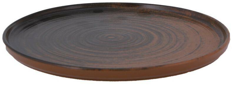 Porland Lykke Brown extra plat bord 24 cm