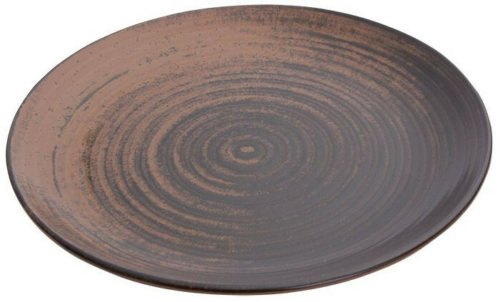 Porland Lykke Brown coupe bord 25 cm