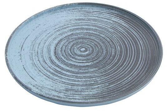 Porland Lykke Turquoise extra plat bord 24 cm
