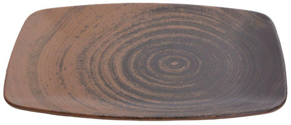 Porland Lykke Brown oblong bord 27 x 19,5 cm