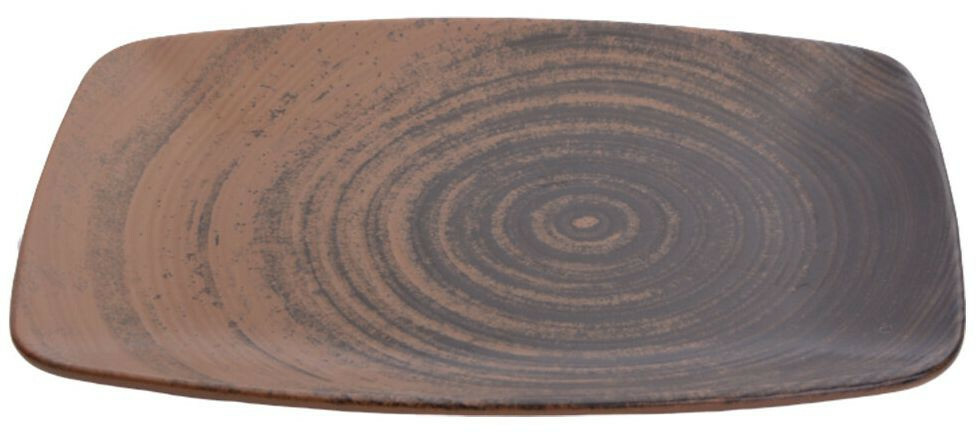 Porland Lykke Brown oblong bord 32,5 x 23 cm