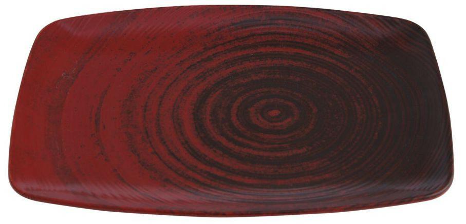 Porland Lykke Red oblong bord 32,5 x 23 cm