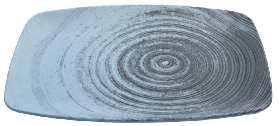 Porland Lykke Turquoise oblong bord 27 x 19,5 cm