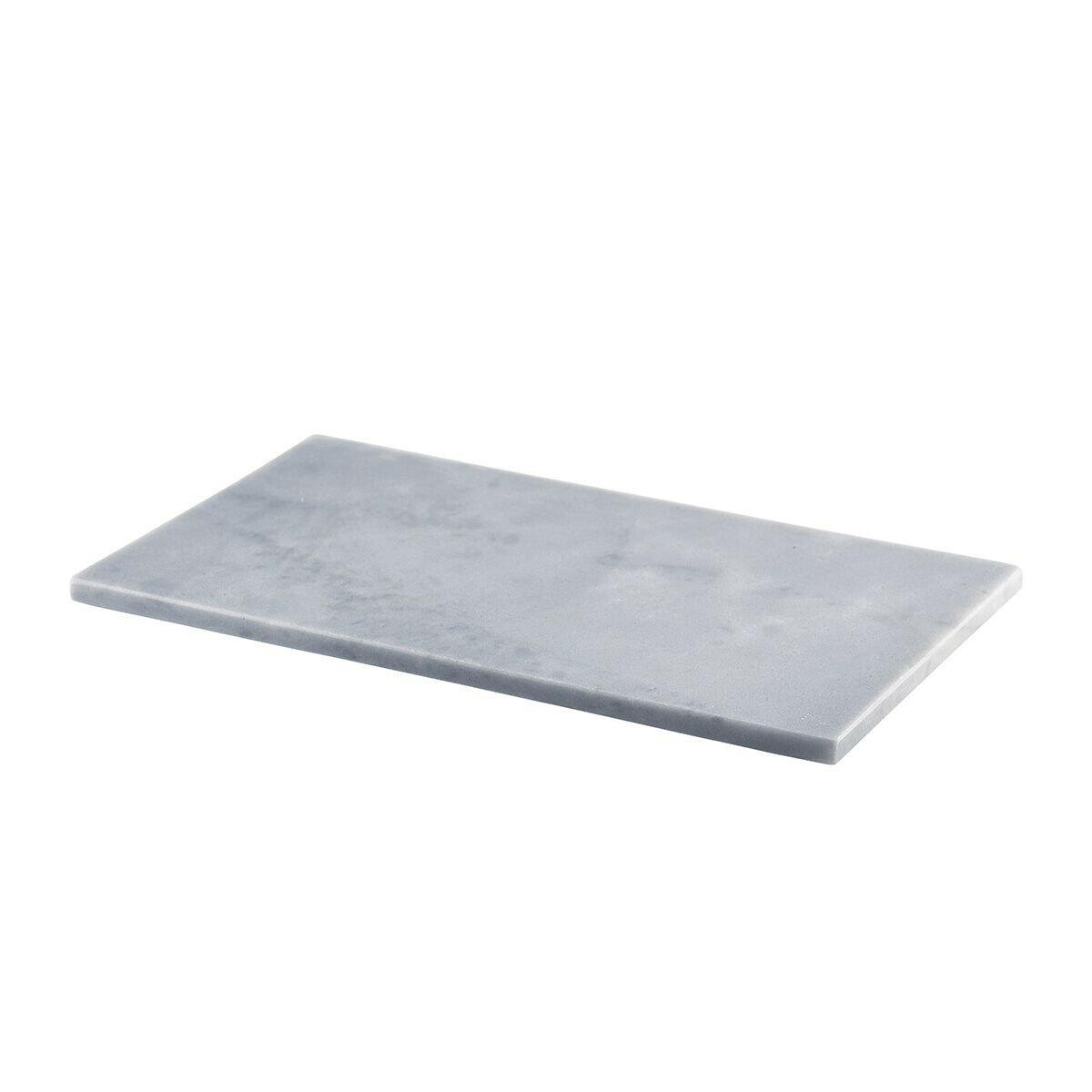 grijs marmeren plateau GN 1/3 32 x 18 cm met voetjes