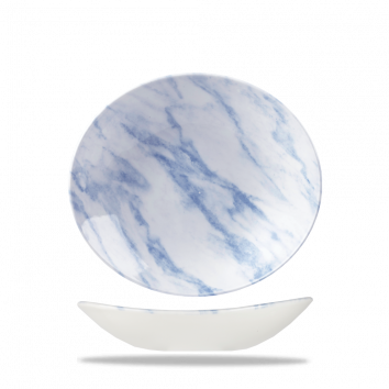 Churchill Textures ovale coupe schaal 25,5 cm blue marble