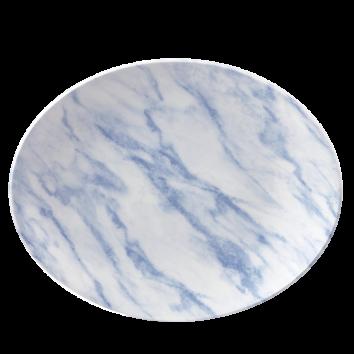 Churchill Textures ovaal coupe bord 31,7 cm blue marble
