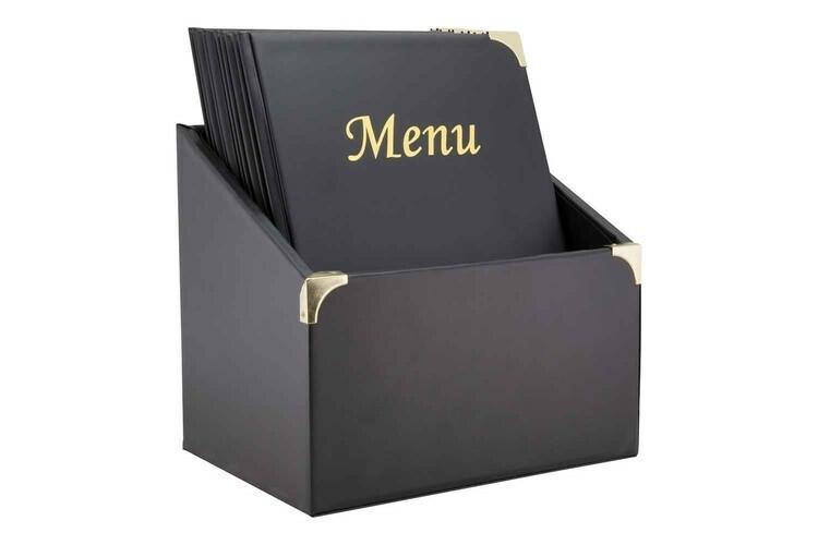 Securit menumap box Basic A4 zwart 27 x 20 x 30.5(h) cm DOOS 10