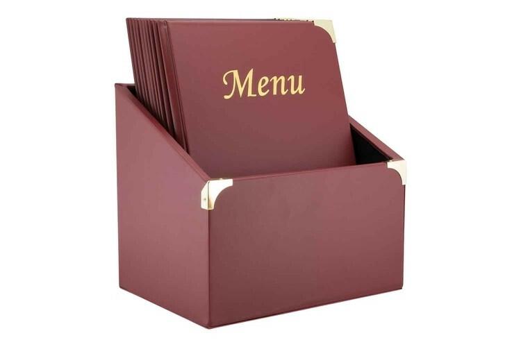 Securit menumap box Basic A4 rood 27 x 20 x 30,5(h) cm DOOS 10