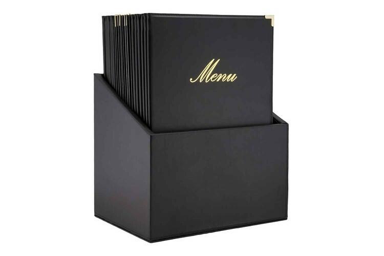 Securit menumap box Classic A4 zwart 28 x 19,8 x 35(h) cm DOOS 20