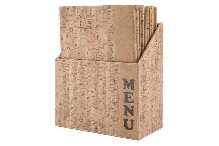 Securit menumap box Design A4 kurk look 27 x 14,6 x 35,2(h) cm DOOS 10