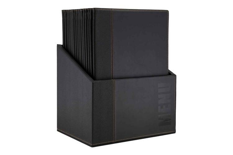 Securit menumap box Trendy A4 zwart 27,9 x 19,7 x 35,2(h) cm DOOS 20
