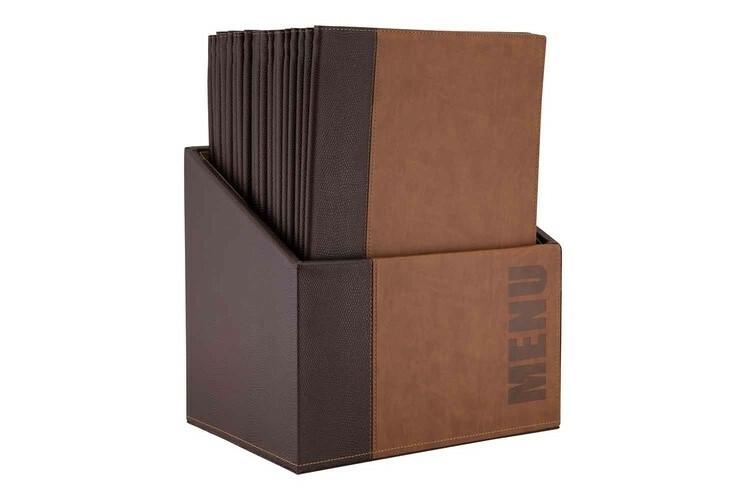Securit menumap box Trendy A4 bruin 27,9 x 19,7 x 35,2(h) cm DOOS 20