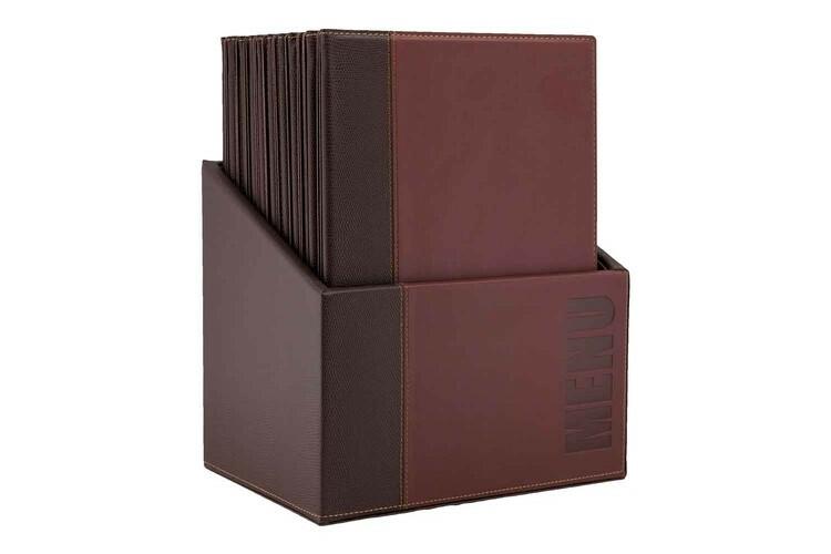 Securit menumap box Trendy A4 rood 27,9 x 19,7 x 35,2(h) cm DOOS 20