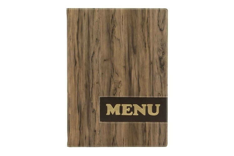 Securit menumap Design A4 hout look 25 x 34,4(h) cm