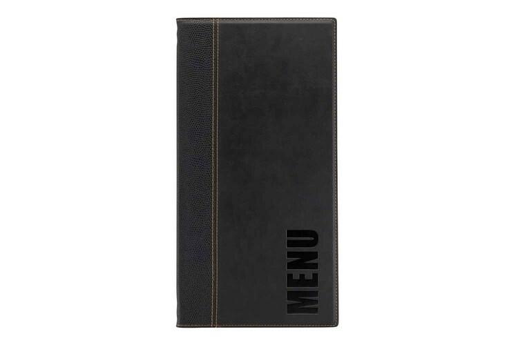 Securit menumap Trendy langwerpig zwart 18,6 x 35,5(h) cm