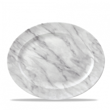 Churchill Textures schaal ovaal 36,5 cm grey marble