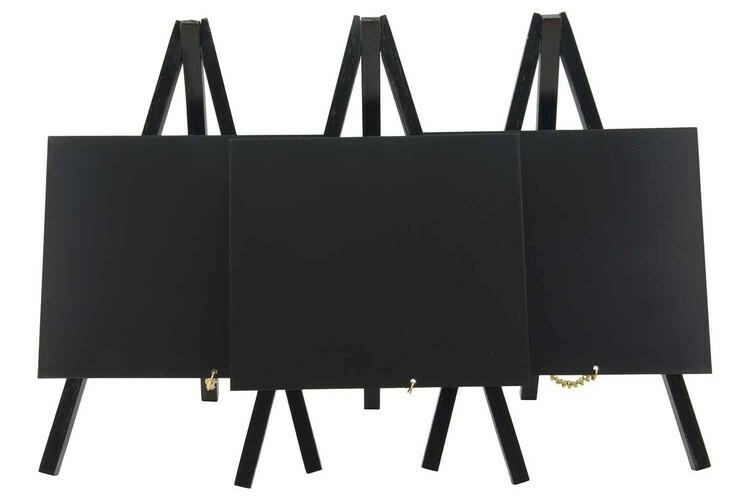 Securit krijtbord ezel mini zwart hout 15 x 13,5 x 24,4(h) cm DOOS 3