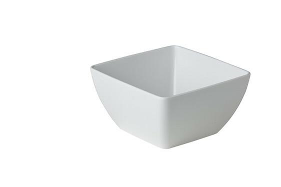Stylepoint melamine vierkante bak wit 19 x 19 x 10 cm